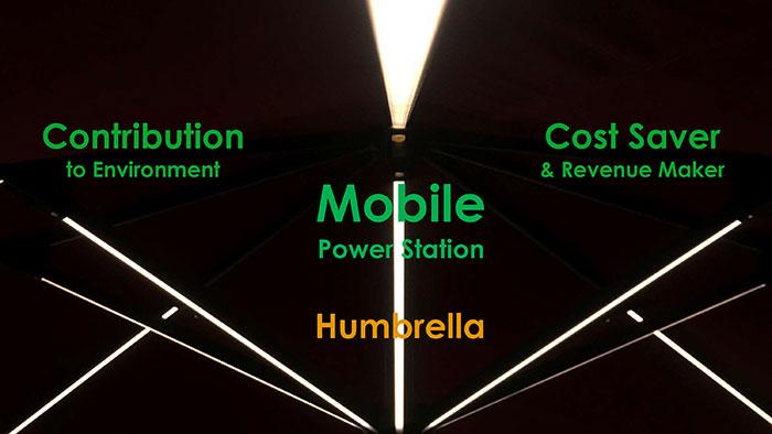 Dù năng lượng mặt trời Humbrella 18