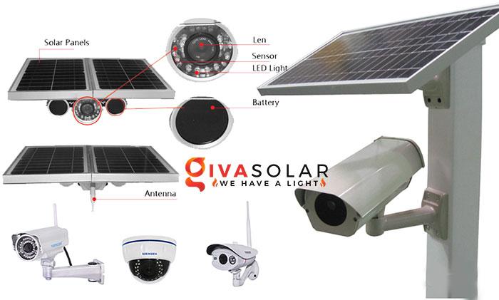 Đèn đường năng lượng mặt trời tích hợp với camera an ninh 1