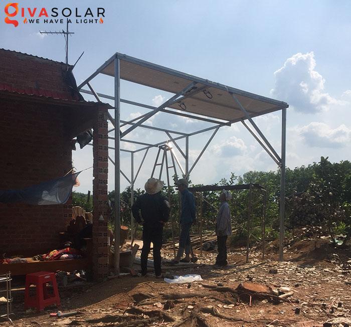 Dự án lắp đặt hệ thống 5KW ở Bình Phước 2