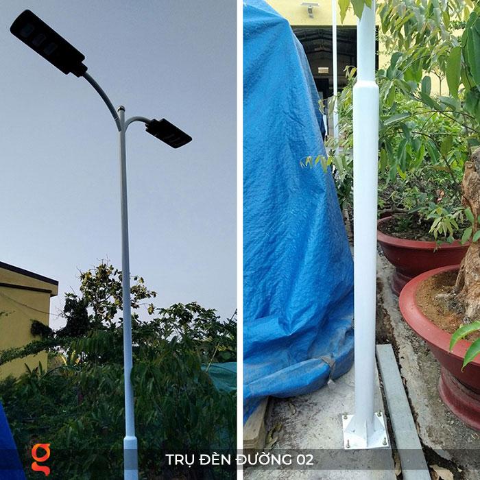 Trụ đèn năng lượng mặt trời 2 nhánh 02