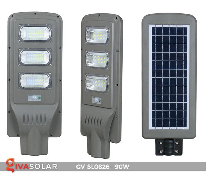 Đèn chiếu sáng đường năng lượng mặt trời GV-SL0826 2