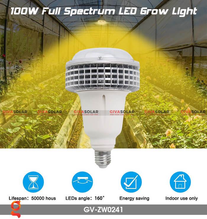 Đèn Led trồng cây quang phổ ấm GV-ZW0241 1