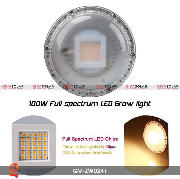 Đèn Led trồng cây quang phổ ấm GV-ZW0241 6