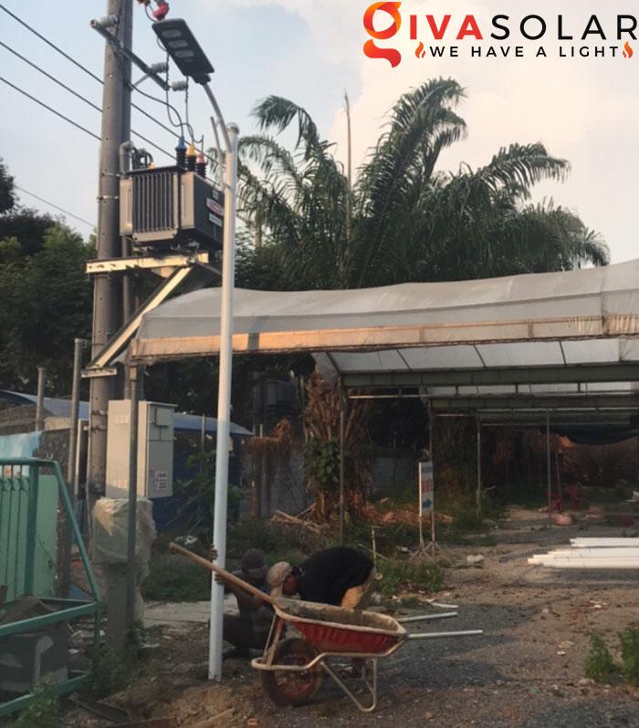 hệ thống lắp đặt đèn mặt trời tại Bửu Lộc - đồng nai 2
