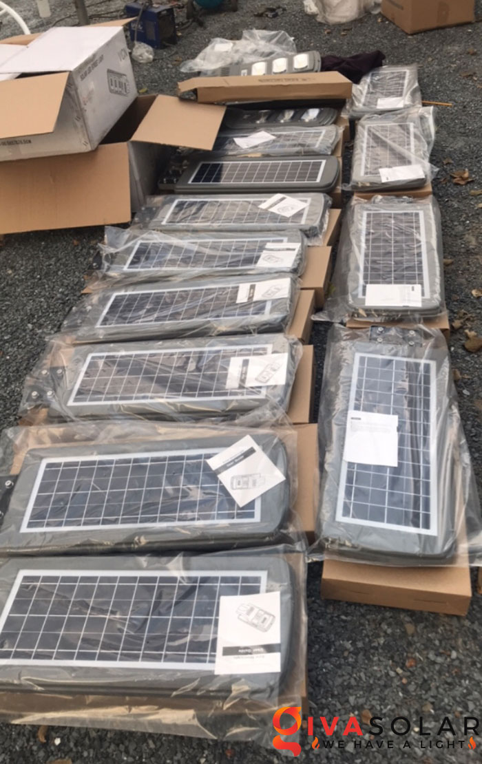 hệ thống lắp đặt đèn mặt trời tại Bửu Lộc - đồng nai 3