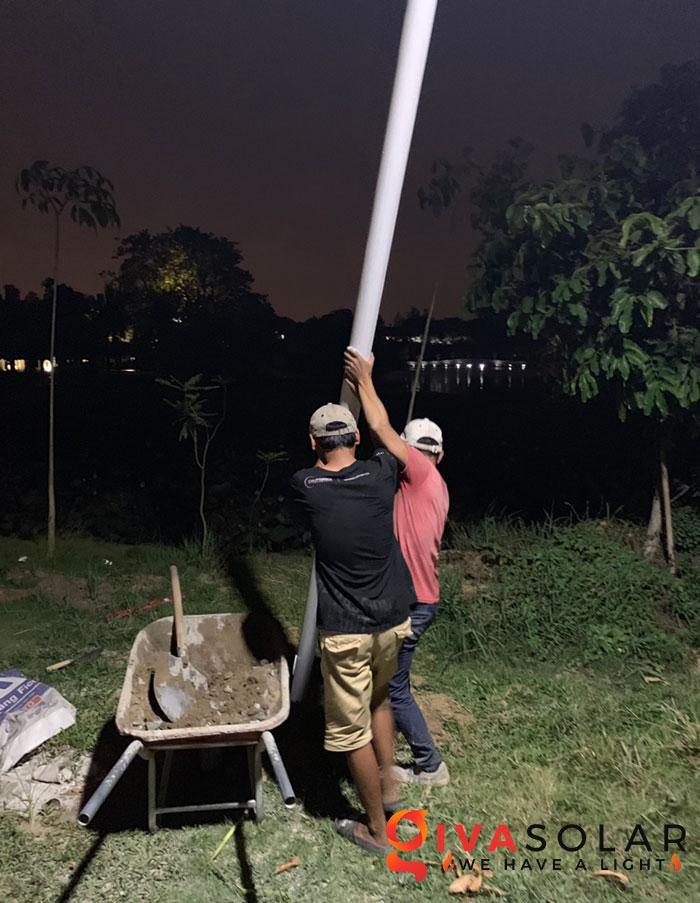 hệ thống lắp đặt đèn mặt trời tại Bửu Lộc - đồng nai 7