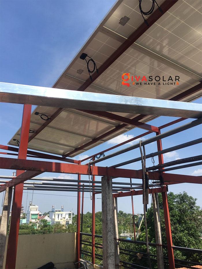 Lắp đặt hệ thống điện mặt trời 2KW ở Hóc Môn 1