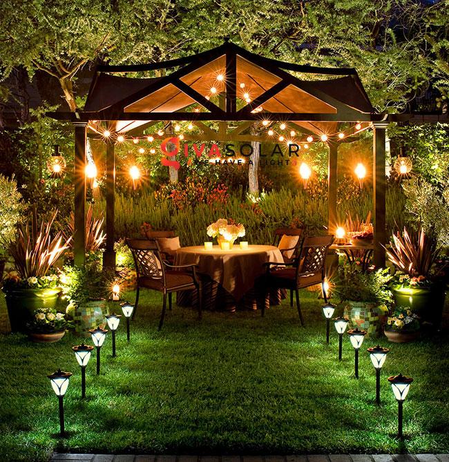 ý tưởng chiếu sáng sân vườn đẹp cho ngôi nhà của bạn 12