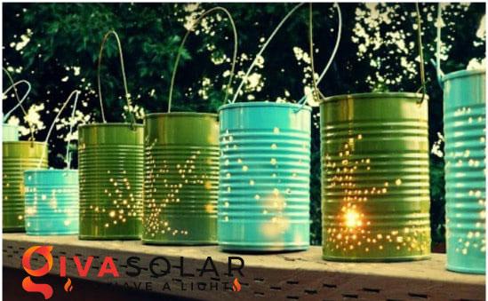 ý tưởng làm đèn trang trí sân vườn để chiếu sáng ngoài trời 18
