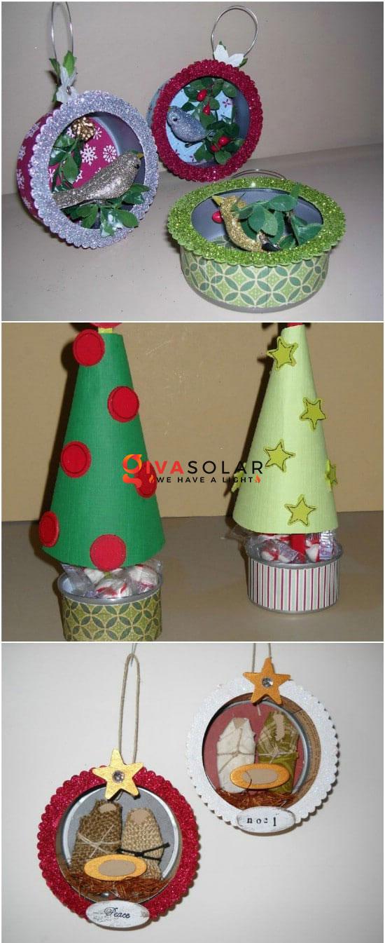 Ý tưởng trang trí cũng như tái chế lon/hộp thiếc 3