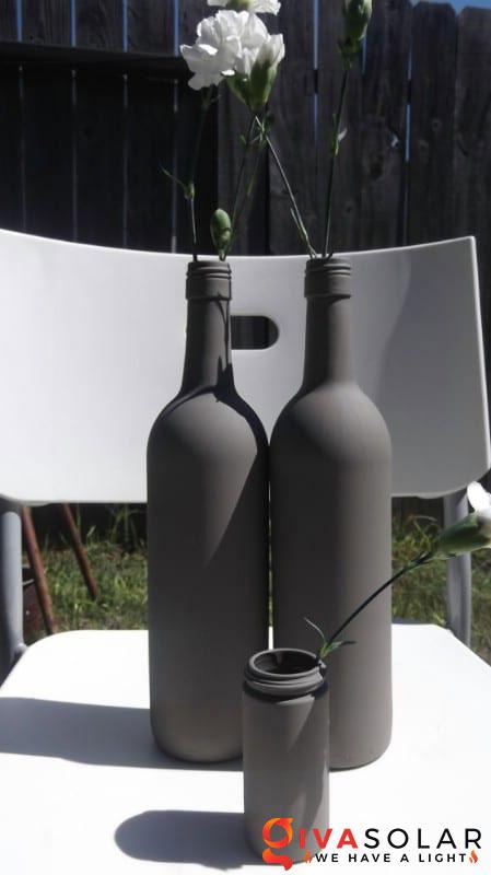 Ý tượng trang trí độc đáo với chai rượu 10