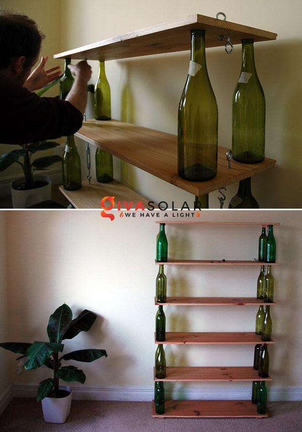 Ý tượng trang trí độc đáo với chai rượu 13