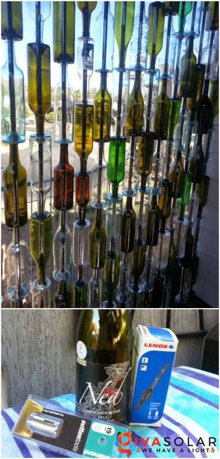 Ý tượng trang trí độc đáo với chai rượu 15
