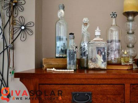 Ý tượng trang trí độc đáo với chai rượu 24