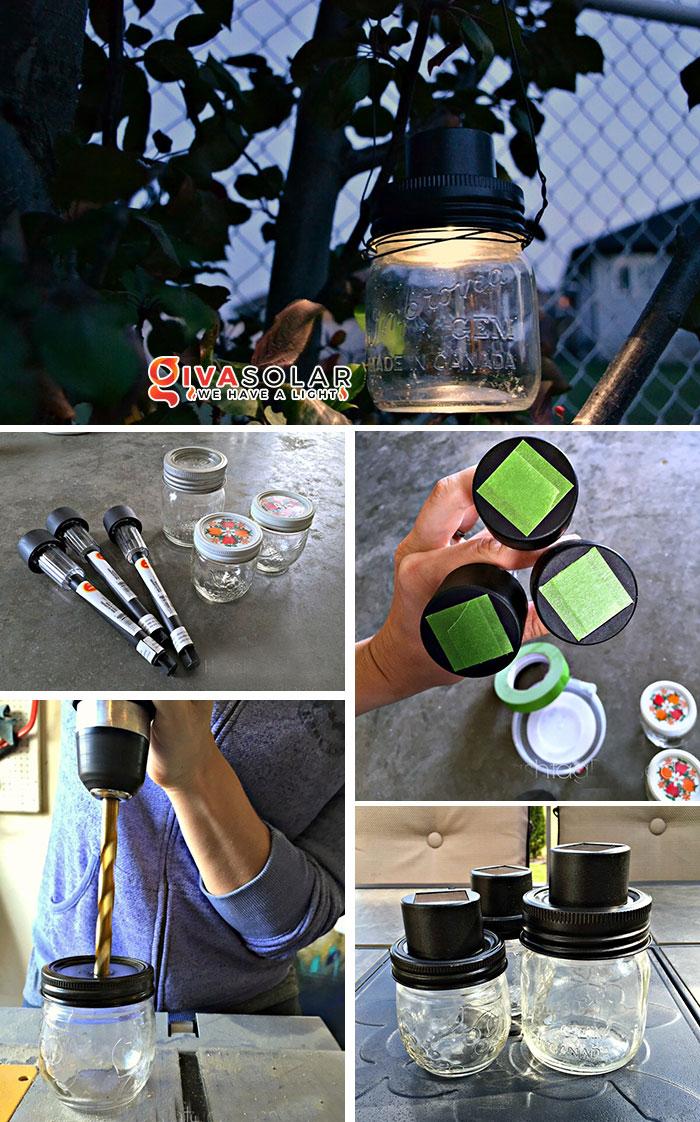 sáng tạo với đèn năng lượng mặt trời 12