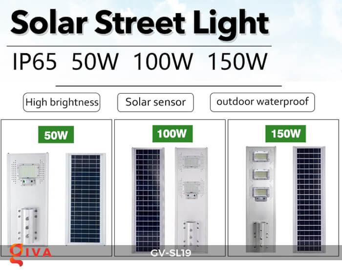 Đèn đường LED cao cấp năng lượng mặt trời GV-SL19 1