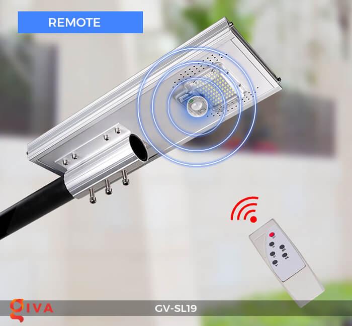 Đèn đường LED cao cấp năng lượng mặt trời GV-SL19 18