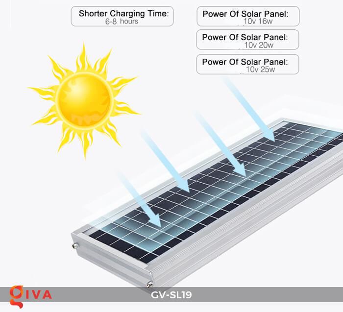 Đèn đường LED cao cấp năng lượng mặt trời GV-SL19 20