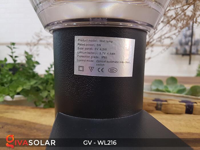 Đèn Led năng luongj mặt trời gắn tường GV-WL216 11