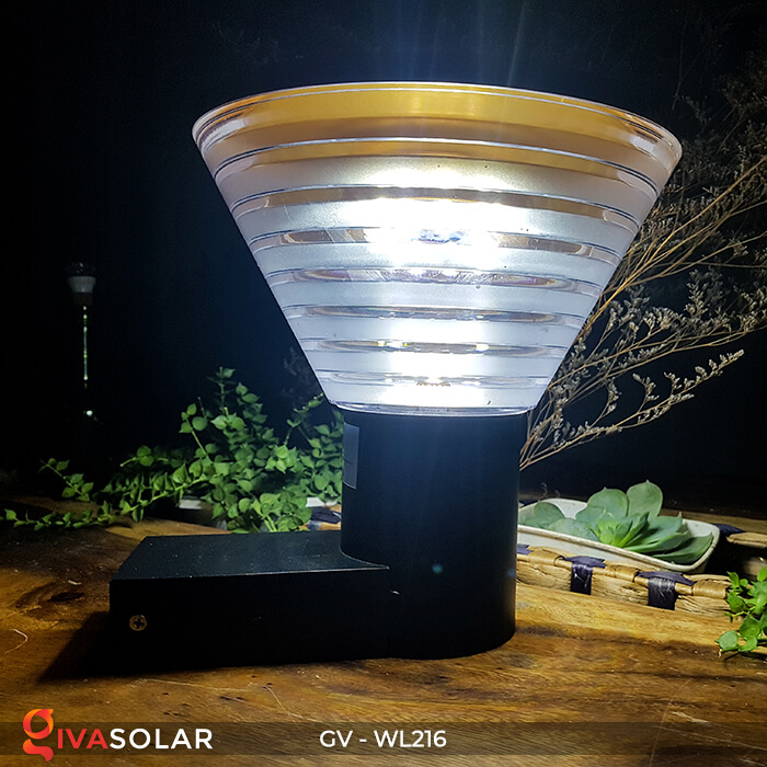 Đèn Led năng luongj mặt trời gắn tường GV-WL216 8