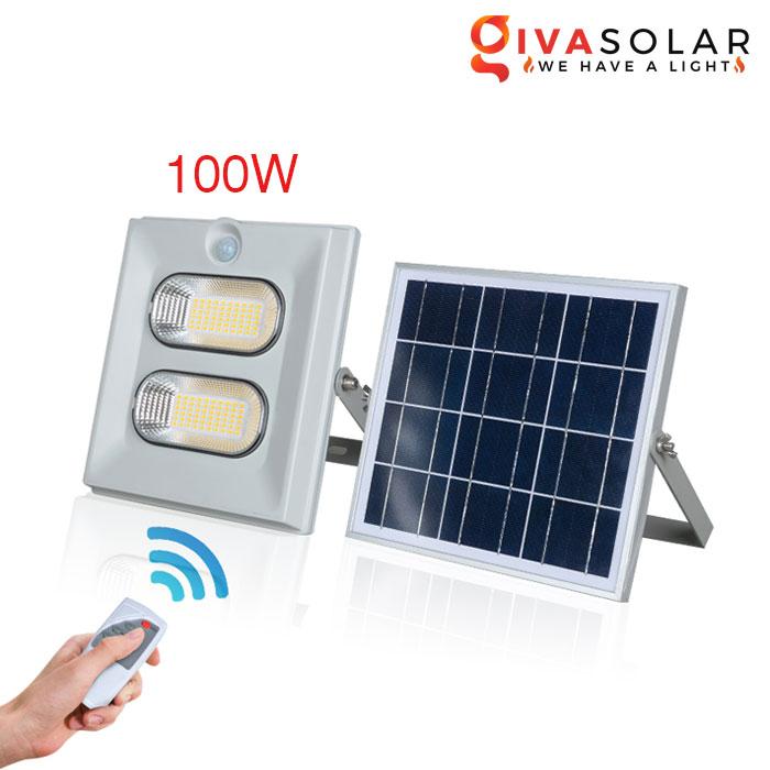 Đèn pha năng lượng mặt trời có cảm biến GV-FL0860 100W