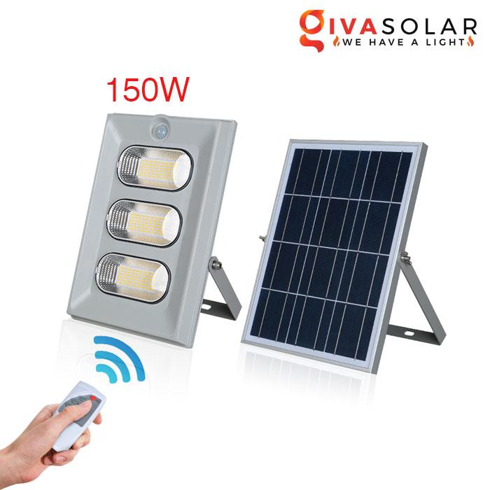 Đèn pha năng lượng mặt trời có cảm biến GV-FL0860 150w