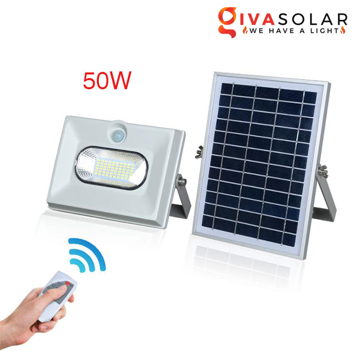 Đèn pha năng lượng mặt trời có cảm biến GV-FL0860 50W