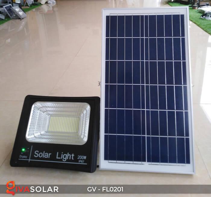 Đèn pha công suất lớn solar GV-FL0201 200W 1