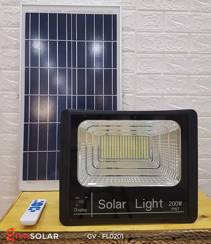 Đèn pha công suất lớn solar GV-FL0201 200W 5
