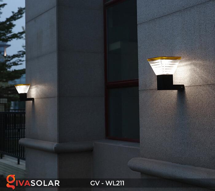 Đèn treo tường năng lượng mặt trời GV-WL211 10