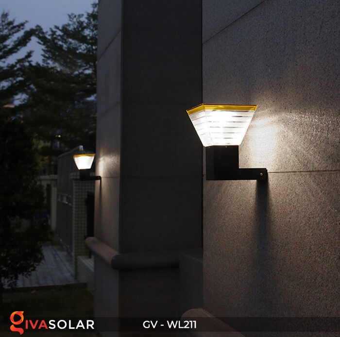 Đèn treo tường năng lượng mặt trời GV-WL211 11