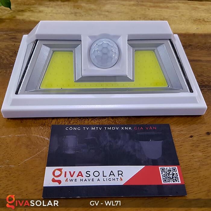 Đèn LED COB gắn tường năng lượng mặt trời GV-WL71 1