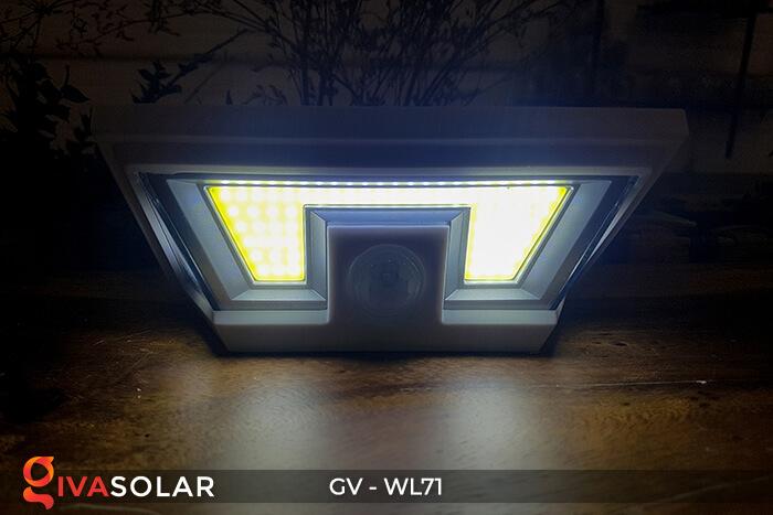 Đèn LED COB gắn tường năng lượng mặt trời GV-WL71 10