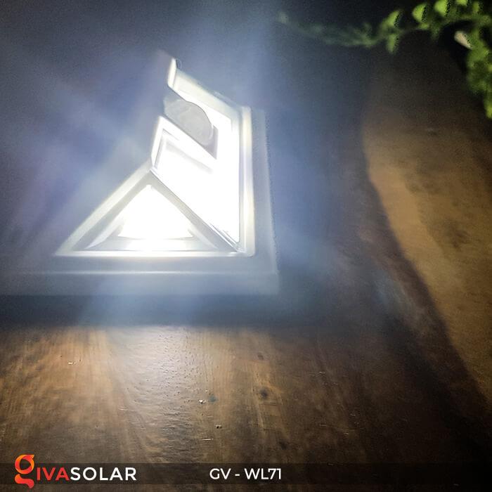 Đèn LED COB gắn tường năng lượng mặt trời GV-WL71 12