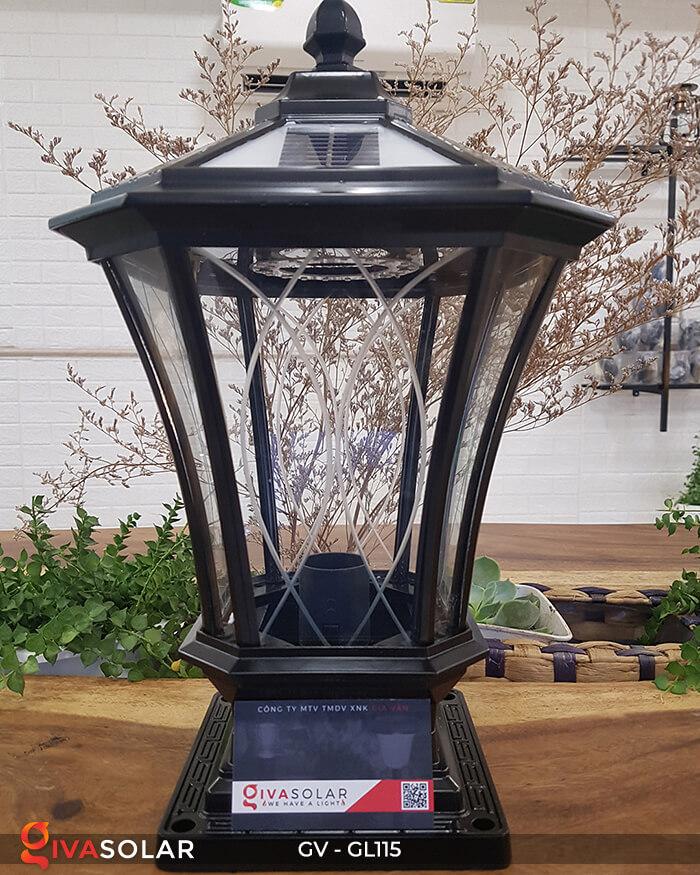 Đèn trụ cổng năng lượng mặt trời sang trọng GV-GL115 1