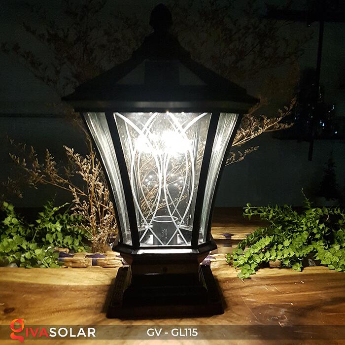 Đèn trụ cổng năng lượng mặt trời sang trọng GV-GL115 3