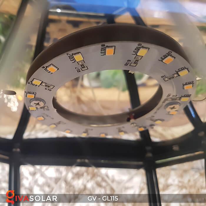Đèn trụ cổng năng lượng mặt trời sang trọng GV-GL115 8