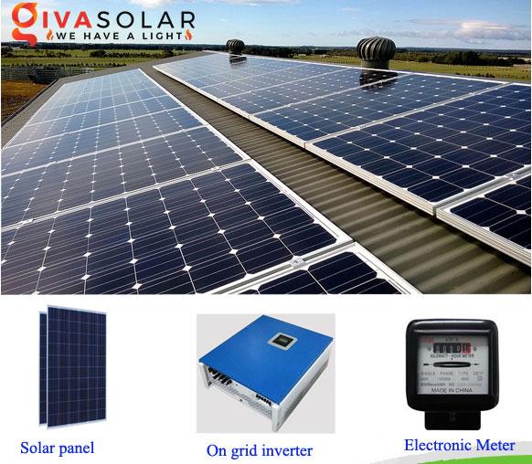 cấu tạo hệ thống Năng lượng mặt trời hòa lưới