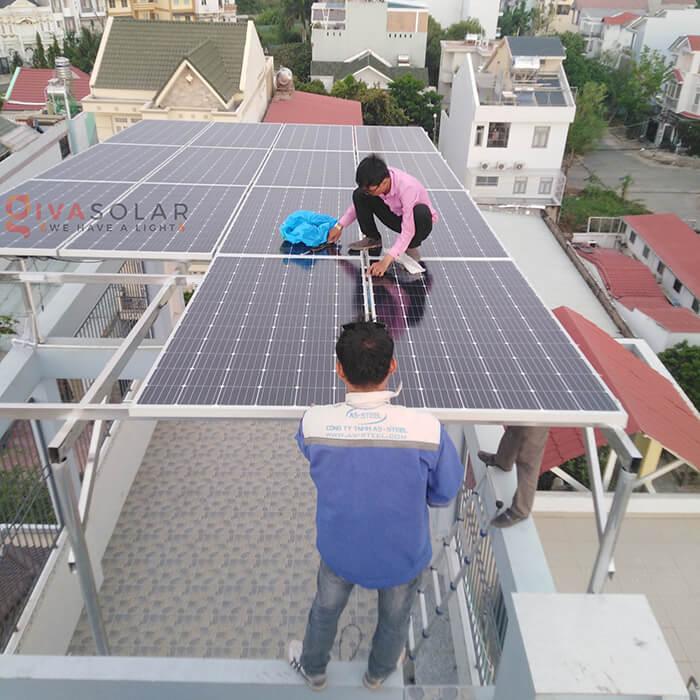 dự án lắp đặt hệ thống Hòa lưới 5KW ở Bình Chánh 1