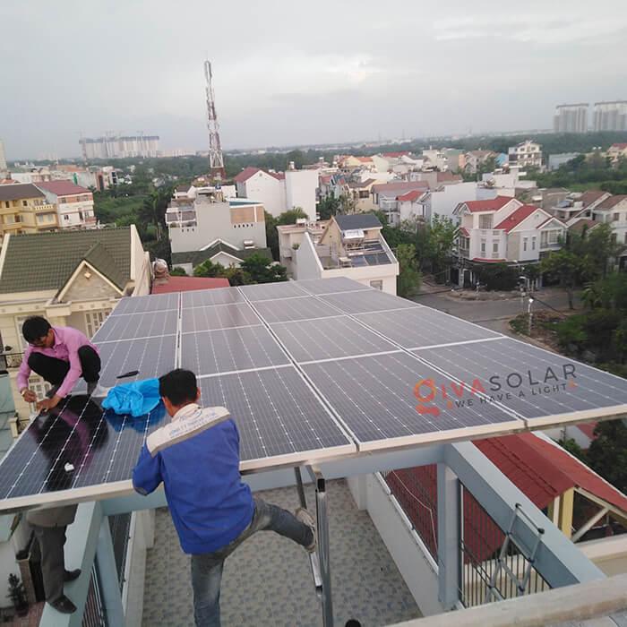 dự án lắp đặt hệ thống Hòa lưới 5KW ở Bình Chánh 2