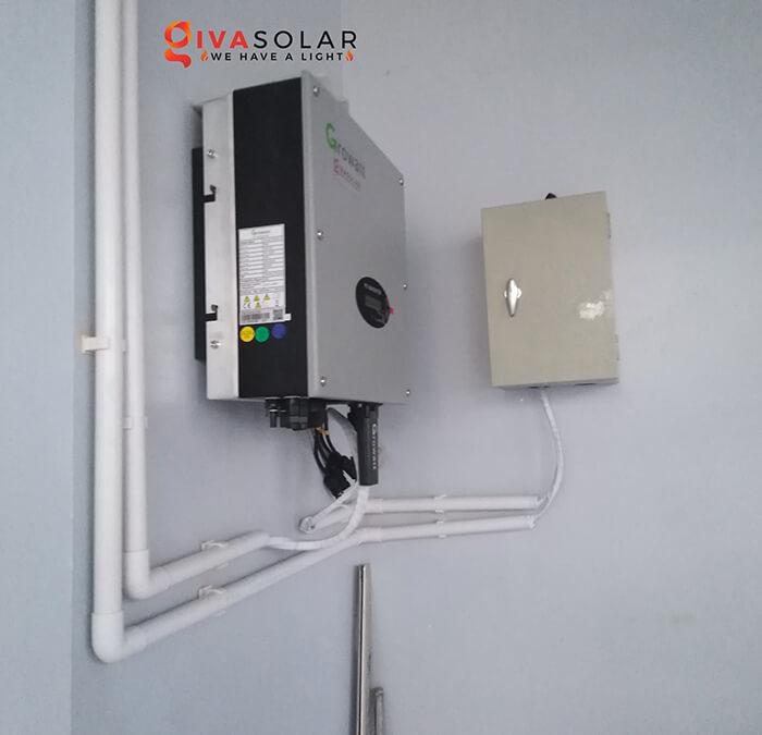 dự án lắp đặt hệ thống Hòa lưới 5KW ở Bình Chánh 9