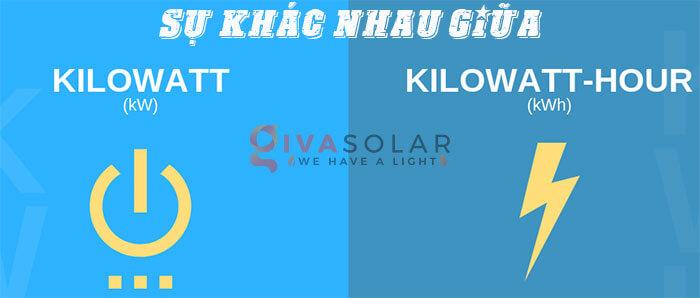 Sự khác nhau giữa kW & kWh