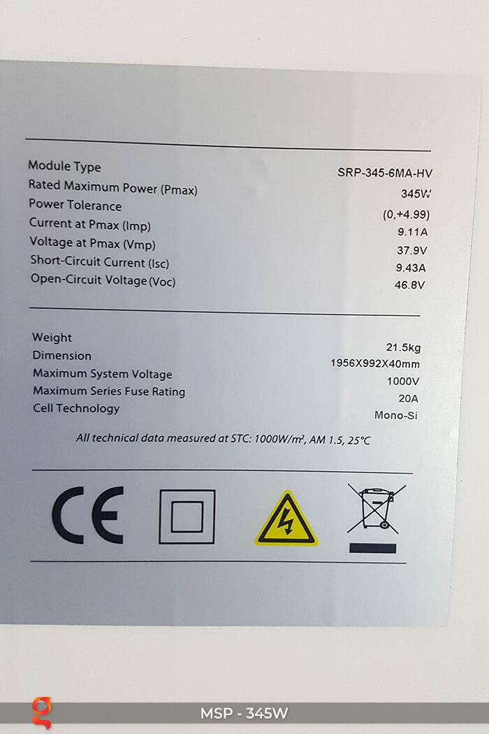 Pin năng lượng mặt trời Mono 345W 9