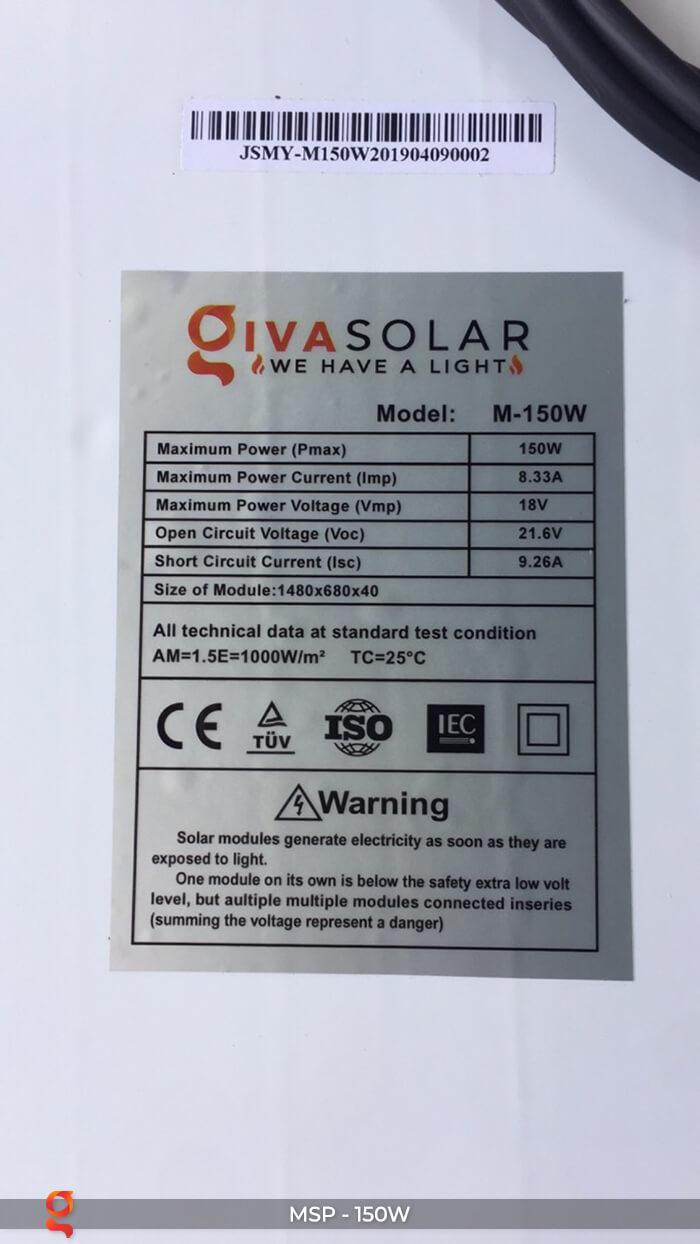 Tấm pin thu năng lượng mặt trời MONO 150W 7