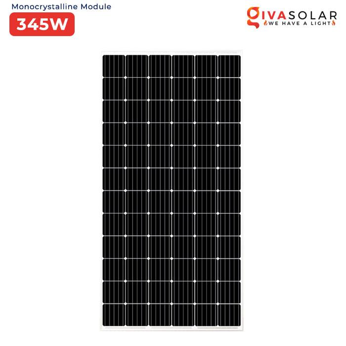 tấm pin mặt trời mono 345w