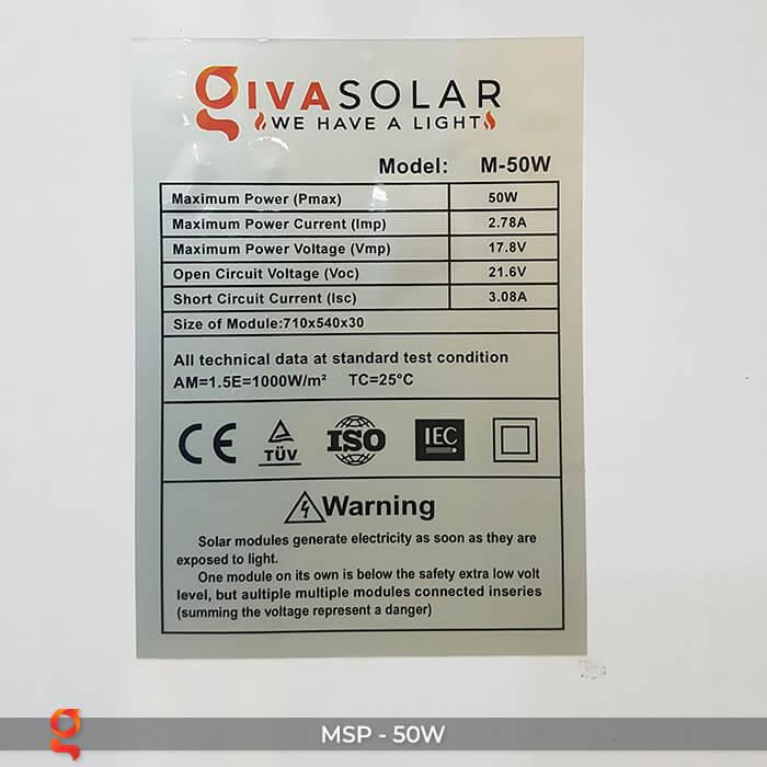 Tấm pin năng lượng mặt trời mini MONO 50W 7