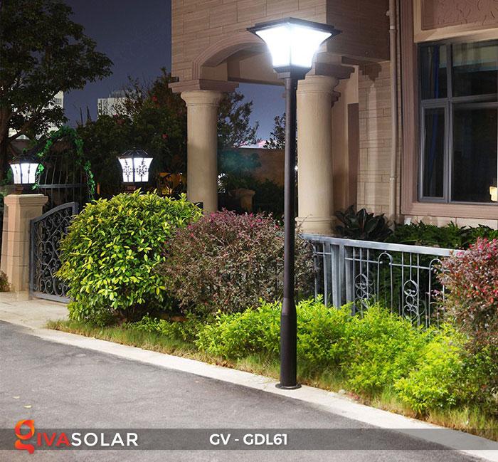 Đèn năng lượng mặt trời chiếu sáng sân vườn GV-GDL61 18