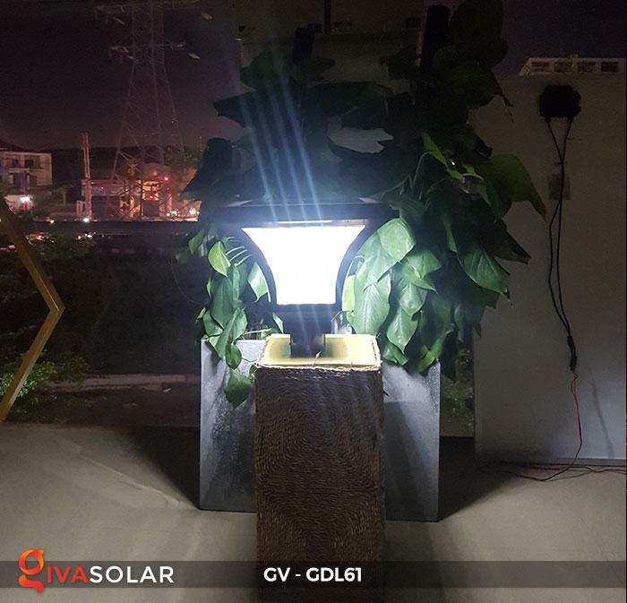 Đèn năng lượng mặt trời chiếu sáng sân vườn GV-GDL61 6
