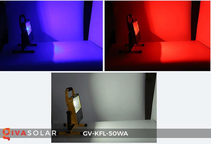 Đèn Pha Sạc điện GV-KFL-50WA 1