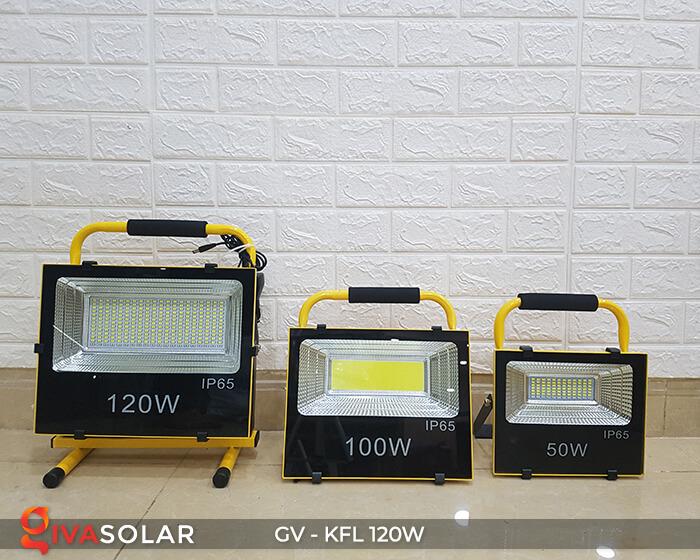 Đèn LED pha sạc điện GV-KFL-120W 15